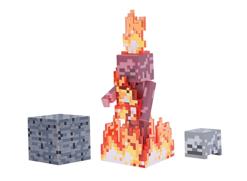 Minecraft Series 4 Skeleton on Fire